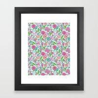 Sweetheart Aqua Framed Art Print