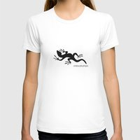 Lizard Womens Fitted Tee White SMALL