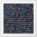 Stardust Geometric Art Print. Art Print