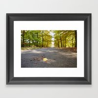 Remote Country Road Thro… Framed Art Print