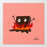 Spicy Chocolate Canvas Print
