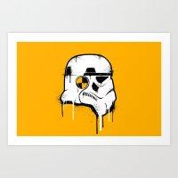 Stencil Trooper - Star W… Art Print