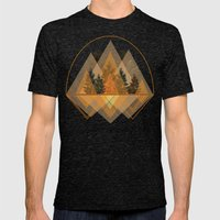 try again tree-angles mountains Mens Fitted Tee Tri-Black SMALL