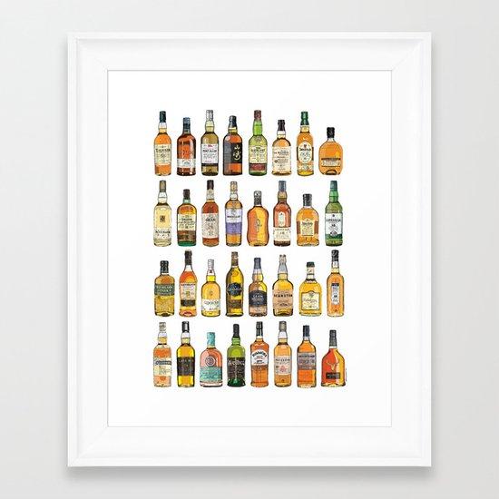 Single Malts Framed Art Print