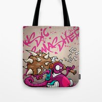 MUSIC SMASHER Tote Bag