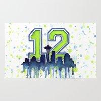 Seahawks 12th Man Fan Ar… Rug