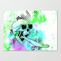 Skater Deadication Canvas Print