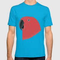 Amazon Eclectus [Female] Mens Fitted Tee Teal SMALL