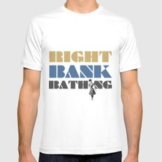 Right bank bathing White SMALL Mens Fitted Tee