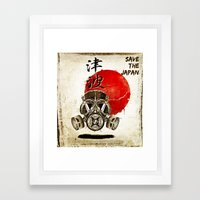 Don't forget Fukusima Framed Art Print