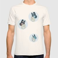 Hampster Butterflies Mens Fitted Tee Natural SMALL
