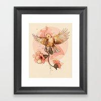 Bird&flowers Framed Art Print