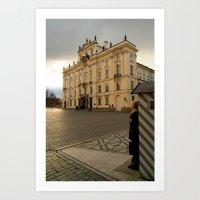 Guarding Prague Castle Art Print
