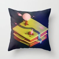 Earth Sandwich One, Variant D Throw Pillow
