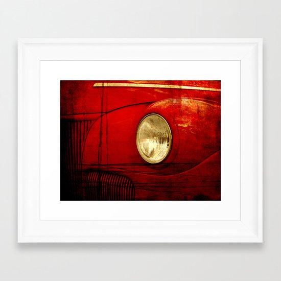 Heart Of Steel Framed Art Print