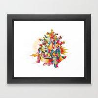 Firespirit in a box Framed Art Print