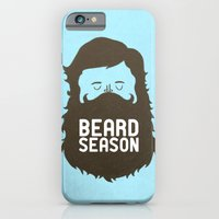 rock iPhone & iPod Cases featuring Beard Season by Chase Kunz