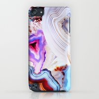 iPod Touch Cases featuring Agate, a vivid Metamorphic rock on Fire by Elena Kulikova