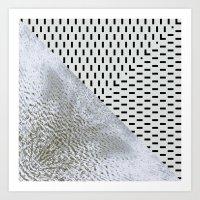 waves/grid #11 Art Print