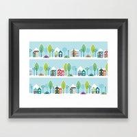 Ski House Framed Art Print