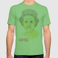 GOD SAVE THE QUEEN Mens Fitted Tee Grass SMALL