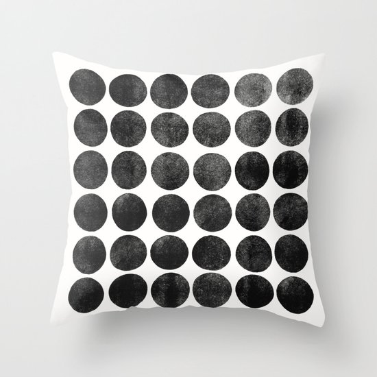 Colorplay Black Throw Pillow