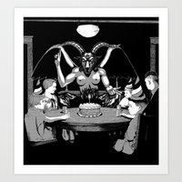 Happy Birthday Baphomet Art Print