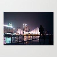 Hong Kong harbour Canvas Print