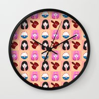 Marcelline & Bubblegum Wall Clock