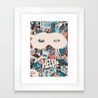 Save Us. Framed Art Print