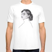 Audrey Mens Fitted Tee White SMALL