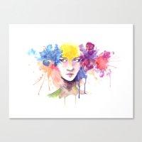 Canvas Print featuring Silk Flower by Jordana Clarke