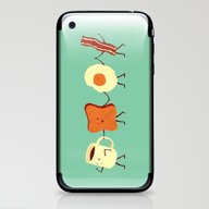 iPhone & iPod Skin featuring Let's All Go And Have Br… by Teo Zirinis