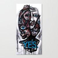 YES Bear Canvas Print
