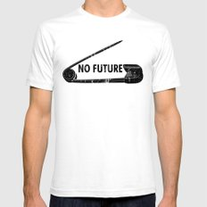 No Future Mens Fitted Tee White SMALL