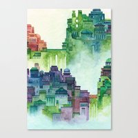 bridge city Canvas Print