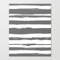 Brush Stroke Stripe Gray Canvas Print