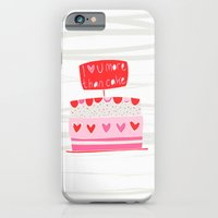 iPhone & iPod Case featuring Love you more than cake by MaJoBV