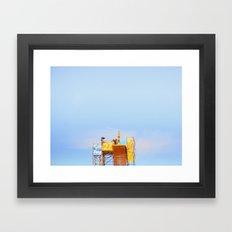 High Diving Framed Art Print