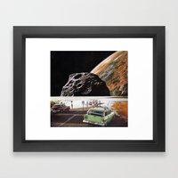 road closed Framed Art Print