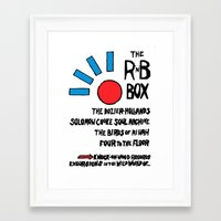 Framed Art Print featuring THE R & B BOX by Marco Di Nicola
