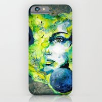 Esther Green (Set) by carographic watercolor portrait iPhone 6 Slim Case