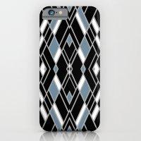 Art Deco Zoom Blue iPhone 6 Slim Case
