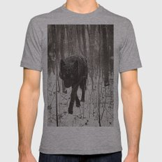 Snow Wolf Mens Fitted Tee Athletic Grey SMALL