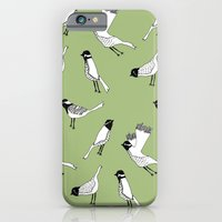 iPhone & iPod Case featuring Bird Print - Olive Green by Hannah Stevens