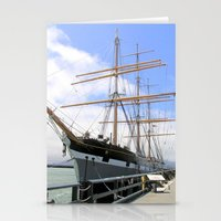 Great Ship in the San Francisco Bay Harbor Stationery Cards