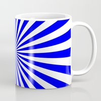Starburst (Blue/White) Mug