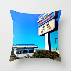 Best Burgers Drive-In Throw Pillow