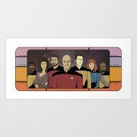 Star Trek: The Next Generation Crew Art Print