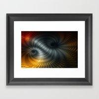 Metallic Spin Framed Art Print